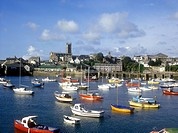 View across Penzance Harbour on the south Cornish coast