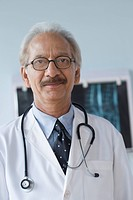 Portrait of a doctor with a stethoscope, Gurgaon, Haryana, India
