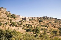 Low angle view of a fort, Kumbhalgarh Fort, Udaipur, Rajasthan, India