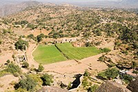 Aerial view of a landscape, Kumbhalgarh Fort, Udaipur, Rajasthan, India