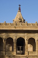 Facade of a temple, Jaisalmer Fort, Jaisalmer, Rajasthan, India