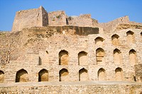 Ruins of a fort, Golconda Fort, Hyderabad, Andhra Pradesh, India