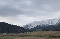 Mountain covered with snow, Gulmarg, Jammu And Kashmir, India