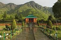 Pavilion in a garden, Chashmashahi Garden, Srinagar, Jammu And Kashmir, India
