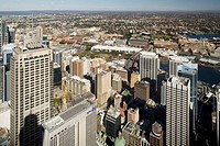 Downtown Sydney seen from Sydney Tower, Sydney, New South Wales, Australia, 2008
