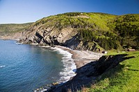Cliffs near Meat Cove village, near Ingonish, northern-most part of Cape Breton, Nova Scotia, Maritimes, Canada, 2008