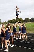 High school cheerleaders  Chesapeake, Md