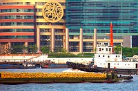 Ships and boats on the Huangpu river, Shanghai, China