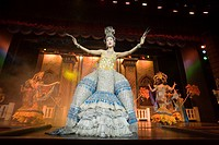 Performance of the song Amazing Thailand on stage of the Simon Cabaret, a famous Transvestite Cabaret, Patong Beach, Ao Patong, Hat Patong, Phuket, Th...