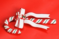 Close_up of a candy cane