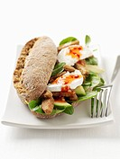 Chicken, avocado and mozzarella in wholemeal roll