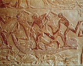 Egytpian civilisation. Relief from Saqqara