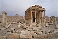 Syria _ Palmyra Tadmur. UNESCO World Heritage Site, 1980. Temple of Baal Shamen