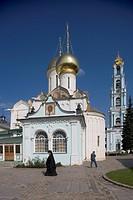 Russia - Sergiev-Posad. Trinity Sergius Lavra (Troitse-Sergiyeva Lavra, 14th-19th century, UNESCO World Heritage List, 1993). Trinity Cathedral (1422)...