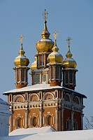 Russia - Golden Ring - Sergiev-Posad. Trinity Sergius Lavra (Troitse-Sergiyeva Lavra, founded 14th century, UNESCO World Heritage List, 1993). The dom...
