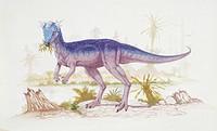 Palaeozoology - Cretaceous period - Dinosaurs - Stygimoloch - Art work