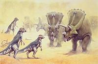 Palaeozoology - Mesozoic period - Dinosaurs - Art work