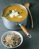 Pumpkin soup with buckwheat