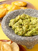 Guacamole in a Mortar