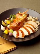 Chicken with Rice Pilaf and Vegetables