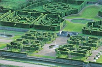 High angle view of a garden, Hastiere, Namur Province, Wallonia, Belgium