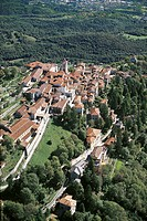 Italy - Lombardy Region - Varese. Sacro Monte. UNESCO World Heritage List, 2003. Aerial view