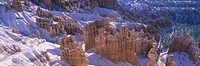 Sunset Point with snow. Bryce Canyon National Park. Utah. USA