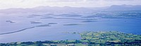 Clew Bay with drowned drumlins. County Mayo. Ireland