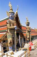 Thailand, Bangkok, Wat Phra Kaeo, Grand Palace, statues, tourist, Asia, southeast_Asia, city, capital, destination, sight, buildings, constructions, a...