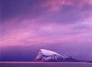 Norway, Tomso, Haja Island, winter, polar_night, Scandinavia, lake,ocean, rock_island, Island, rocky, snowed, season, cold, snow, frost, evening, even...