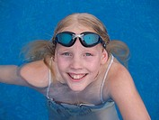 swimmingpool, girl, swimming_glasses, smiling, portrait, series, vacation, vacation, child, free_bath, swimming pool, water, teenagers, swimsuit, joy,...