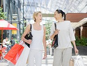 Woman shopping together