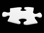 Close up of single puzzle piece (thumbnail)