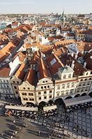 Vista aerea de la Ciudad Vieja de Praga; Republica Checa