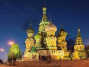 Cathedral of the Intercession, or Cathedral of St. Basil the Blessed, Red Square, Moscow, Russia