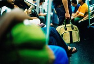 subway, bag, commute,