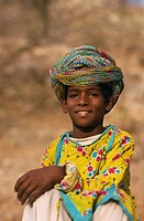 Asia, India, Rajasthan, Jaipur, Boy In Rajasthani Costume
