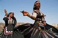 Asia, India, Rajasthan, Jaipur, Amber Fort, Rajasthani Dancing