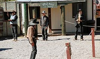 Staging of a Duel at Helldorado Town Restaurant