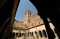 Spain. Cataluña. Girona. Alt Empordà. Costa Brava. Monastery Benedictine Sant Pere de Rodes (El Port de la Selva)