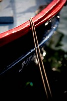 Detail of a boat moored in port  Costa Brava, Catalonia, Spain