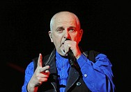 Santiago Chile 24 March 2009 the English singer Peter Gabriel during a presentation at the margin of the Fest 2009 at Pepsi Movistar Arena Santiago Ch...
