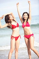Japanese women in swimsuit