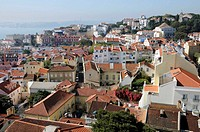 Portugal, Lisbon  View on the city from the roof of the Sao Vicente de Fora Monastery
