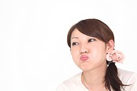 Woman pouting (thumbnail)