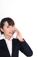 Business lady receaving a call