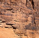 Close_up of red rock wall in Utah