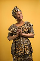 African American female mature adult in African dress
