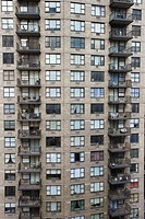 New York City apartment building balconies