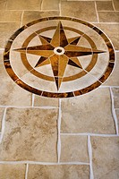 Marble floor with star shape in affluent home